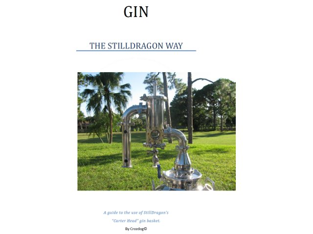 The StillDragon® Gin Basket Operation Manual